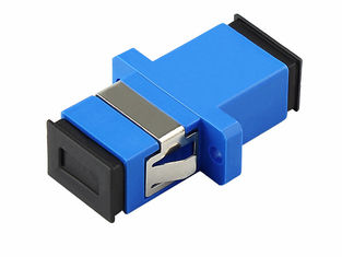 China SC / UPC SM SX Fiber Optic Adapters Blue Color Single Mode Simplex Duplex supplier